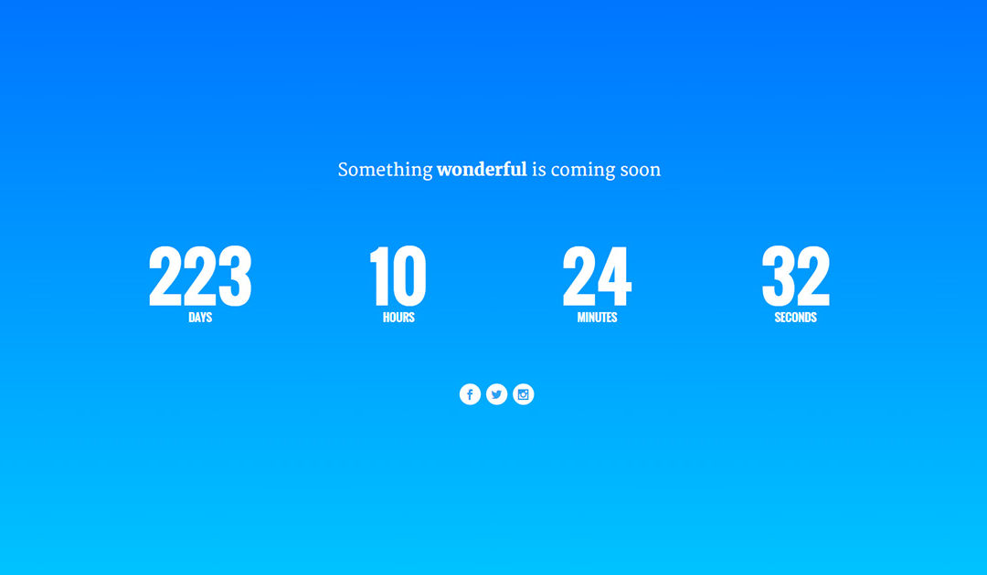 Divi Tutorial – The Final Countdown